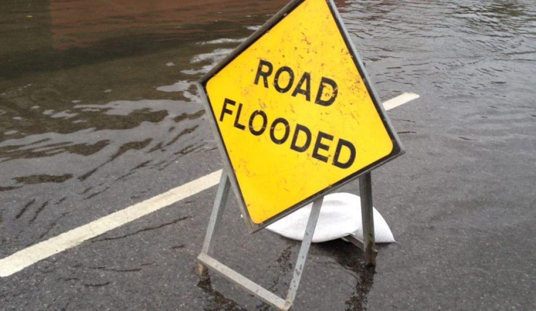 Recording of flood data