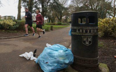 Waste from public bins